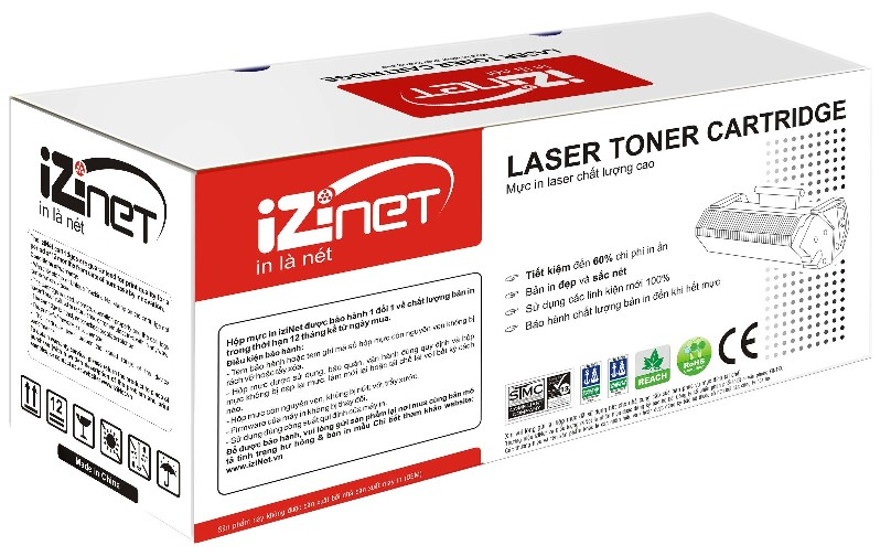 Mực IziNet HP 55X Black LaserJet Toner Cartridge